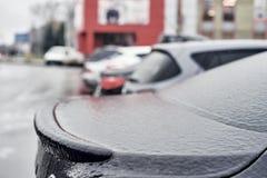 Παγωμένο μέρος του αυτοκινήτου Στοκ φωτογραφία με δικαίωμα ελεύθερης χρήσης