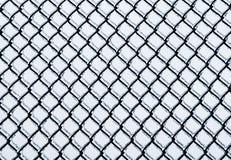 Παγωμένο μέσο σχέδιο φρακτών αλυσίδα-συνδέσεων Στοκ εικόνες με δικαίωμα ελεύθερης χρήσης