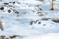 παγωμένο μονοπάτι Στοκ φωτογραφία με δικαίωμα ελεύθερης χρήσης