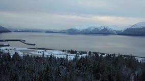 Παγωμένο ναυπηγείο της Αλάσκας απόθεμα βίντεο