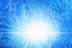 Παγωμένο παγωμένο γυαλί Στοκ Εικόνες