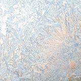 παγωμένο παράθυρο χρονική κάρτα Χριστουγέννων Στοκ εικόνα με δικαίωμα ελεύθερης χρήσης