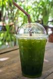 Παγωμένο πράσινο τσάι Στοκ Φωτογραφίες