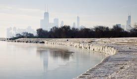 παγωμένο πρωί του Σικάγο&upsilo στοκ φωτογραφία με δικαίωμα ελεύθερης χρήσης
