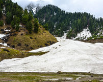 Παγωμένο ρεύμα στην κοιλάδα Naran Kaghan, Πακιστάν Στοκ Εικόνα