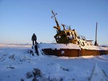 παγωμένο σκάφος προσώπων Στοκ Φωτογραφία