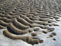 Παγωμένο σχέδιο άμμου και πάγου. στοκ φωτογραφίες με δικαίωμα ελεύθερης χρήσης