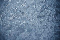 Παγωμένο σχέδιο στο παγωμένο παράθυρο Στοκ Εικόνες