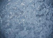 Παγωμένο σχέδιο στο παγωμένο παράθυρο Στοκ Φωτογραφίες