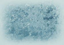 Παγωμένο σχέδιο στο παγωμένο παράθυρο Στοκ εικόνες με δικαίωμα ελεύθερης χρήσης