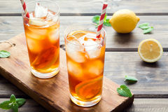 παγωμένο τσάι λεμονιών Στοκ Εικόνες