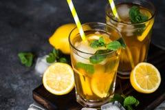 παγωμένο τσάι κρύο καλοκαίρι ποτών Στοκ εικόνες με δικαίωμα ελεύθερης χρήσης