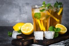 παγωμένο τσάι κρύο καλοκαίρι ποτών Στοκ Εικόνα