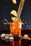 Παγωμένο τσάι λεμονιών στην έννοια κινήσεων Στοκ Εικόνα