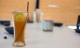 παγωμένο τσάι λεμονιών Στοκ Εικόνα