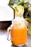 Παγωμένο τσάι με το γάλα, ταϊλανδικό τσάι Στοκ Φωτογραφίες