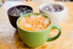 Παγωμένο τσάι με το γάλα Στοκ φωτογραφία με δικαίωμα ελεύθερης χρήσης