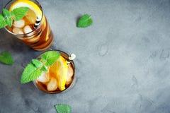 παγωμένο τσάι Στοκ Φωτογραφίες