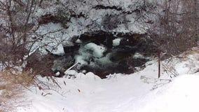 Παγωμένο φαράγγι ποταμών - παγωμένο τοπίο απόθεμα βίντεο