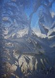 Παγωμένο φυσικό σχέδιο σε έναν χειμώνα Στοκ Φωτογραφίες