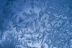Παγωμένο φυσικό σχέδιο στο παράθυρο Στοκ Εικόνα