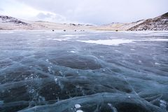 Παγωμένο Baikal στοκ φωτογραφίες με δικαίωμα ελεύθερης χρήσης