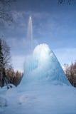 Παγωμένο geyser στο ξύλο Στοκ Εικόνα