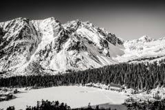Παγωμένο pleso Popradske λιμνών σε υψηλό Tatras, Σλοβακία Στοκ εικόνες με δικαίωμα ελεύθερης χρήσης