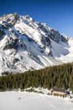 Παγωμένο pleso Popradske λιμνών σε υψηλό Tatras, Σλοβακία Στοκ Εικόνες