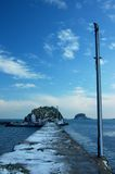 παγωμένο seawall Στοκ Εικόνες