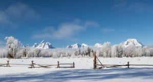 Παγωμένο teton ranchland στοκ φωτογραφία