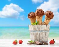 Παγωτά σοκολάτας Στοκ Εικόνα