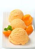 Παγωτό βερίκοκων Στοκ εικόνα με δικαίωμα ελεύθερης χρήσης