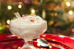 Παγωτό καλάμων καραμελών Χριστουγέννων Στοκ εικόνες με δικαίωμα ελεύθερης χρήσης
