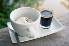 Παγωτό με τον καφέ πάγου Στοκ εικόνες με δικαίωμα ελεύθερης χρήσης