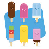 Παγωτό που λειώνουν θερινό Στοκ εικόνες με δικαίωμα ελεύθερης χρήσης