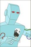 Παγωτό ρομπότ διανυσματική απεικόνιση