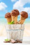 Παγωτό σοκολάτας Στοκ Φωτογραφία