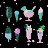 Παγωτό στην τέχνη lego στοκ εικόνες