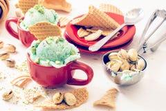 Παγωτό φυστικιών Στοκ Εικόνες