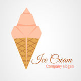 Παγωτό Origami διανυσματική απεικόνιση