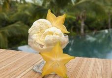 Παγωτό Starfruit στους τροπικούς κύκλους Στοκ Εικόνα