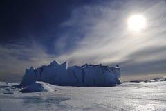 Παγόβουνα στην Ανταρκτική Στοκ Εικόνα