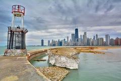 Παγόβουνα στο Σικάγο Στοκ Φωτογραφίες