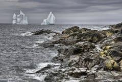 Παγόβουνο, λόγχη ακρωτηρίων, νέα γη Στοκ Εικόνα