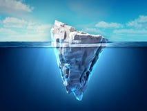 Παγόβουνο που επιπλέει στον ωκεανό ελεύθερη απεικόνιση δικαιώματος