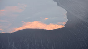 Παγόβουνο της Σιβηρίας που λειώνει, κλιματική αλλαγή στοκ εικόνες