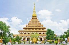 παγόδα στο ταϊλανδικό ύφος ναών σε Khon Kaen Ταϊλάνδη Στοκ Φωτογραφίες