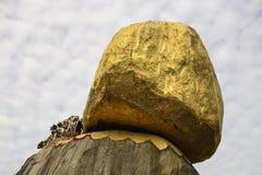 Παγόδα Kyaiktiyo, χρυσός βράχος, το Μιανμάρ Στοκ Φωτογραφία