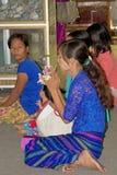 Παγόδα αντικνημίων Oo Pone Nya Sone, το Μιανμάρ στοκ εικόνα